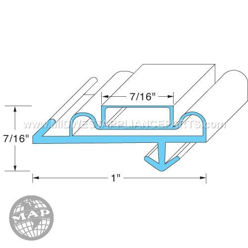 02-10090-0011 Anthony Door Gasket28-3/4w X 70 L Od