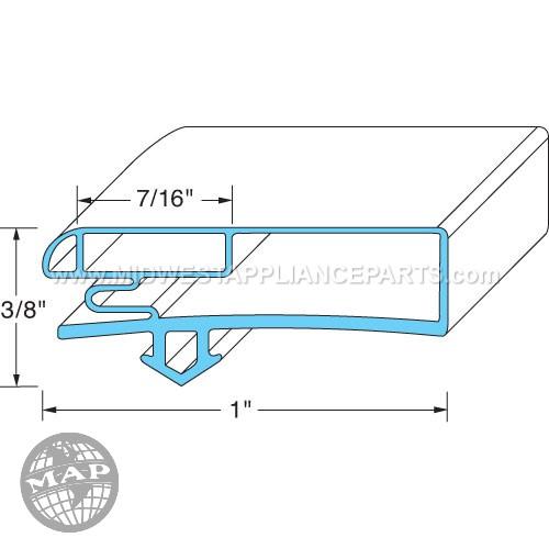 02-14160-2014 Anthony Door Gasket31-3/8 W X 61-5/8 L D2d