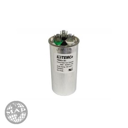 0CZZA20001N Heil quaker 6+50 mfd  round cap  270v