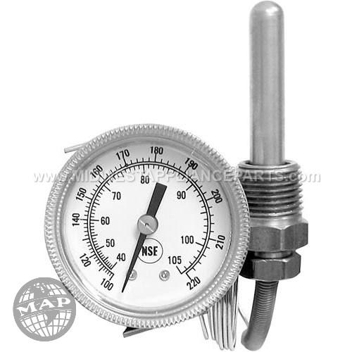 299-1004 American Dish Service Gauge Temperature -100-220 Rear Palnut