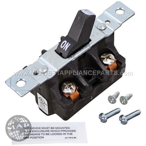 4400196 Univex Manual Contactor2-3/8 Ctr Dpst