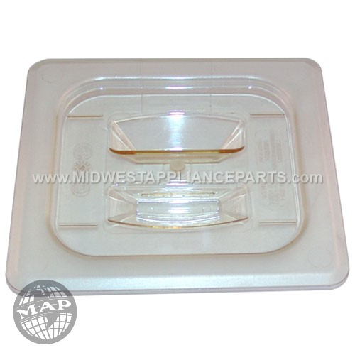 60HPCH Cambro Hot Lid 1/6 Sz Solid-150amber