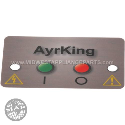 B531 Ayrking Sticker Mylar Ctrl Brd