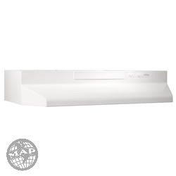 F404211  Broan White On White  Range Hood