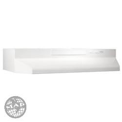 F404211  Broan White On White  Range Hood