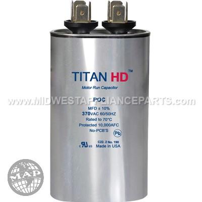 POC10A Titan Hd 10Mfd 370V Oval Run Capacitor
