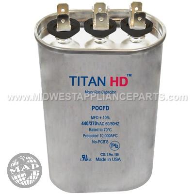 POCFD8075A Titan HD 80+7.5Mfd 440/370V Oval
