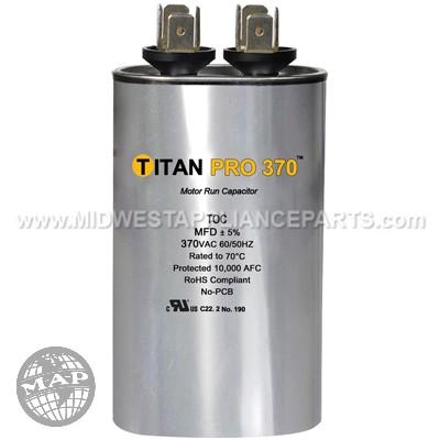 TOC10 Titan Pro 10 Mfd 370Volt Oval Run Capacitor