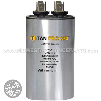 TOC45 Titan Pro 45 Mfd 370V Oval
