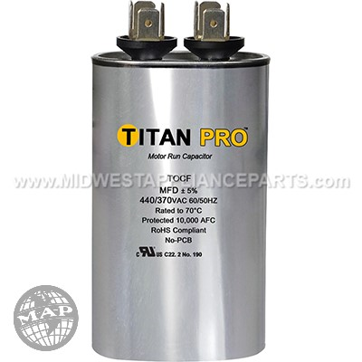TOCF10 Titan Pro 10 Mfd 440/370V Oval